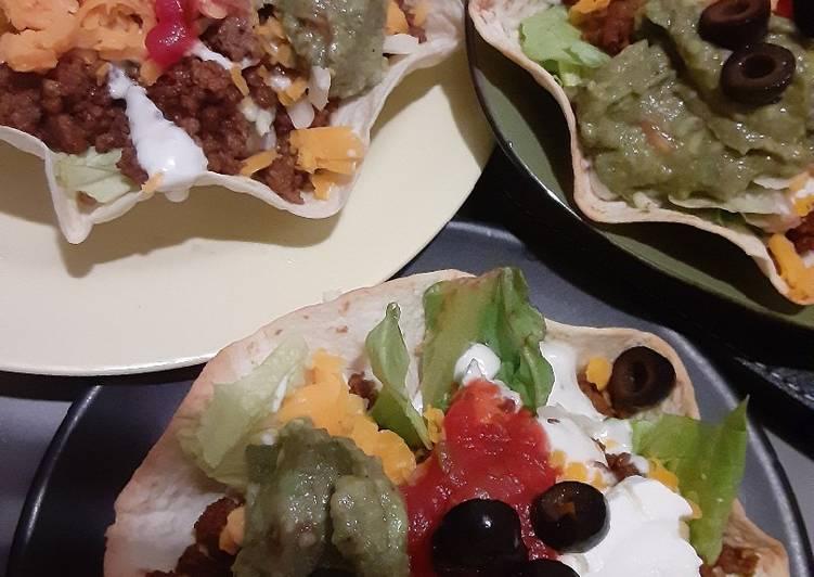 Steps to Prepare Super Quick Homemade Homemade taco Salads