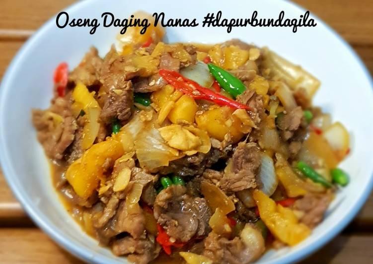 Resep Oseng Daging Nanas #dapurbundaqila, Enak