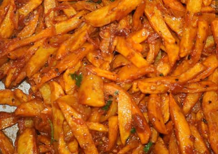 Absolutely Ultimate Dinner Easy Autumn Chips masala by Baros foods
