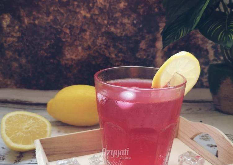 Sirap lemon penghilang dahaga #maratonraya #minuman #minggu2 - resepipouler.com