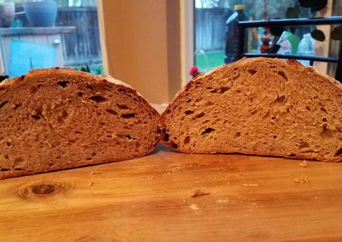 Recipe: Delicious California 100% Whole Grain Sourdough Bread