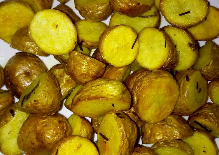 Step-by-Step Guide to Prepare Super Quick Homemade Pan fried baby jacket potatoes #authormarathon