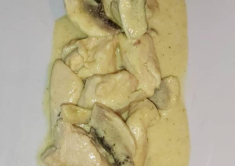 Poulet crème curry