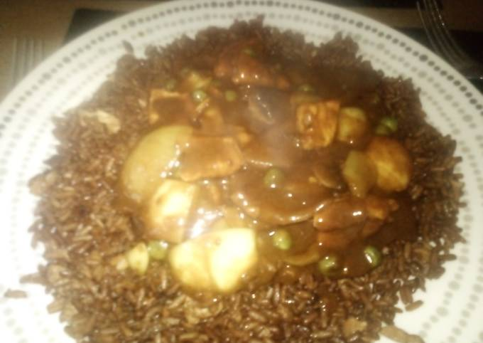 Chicken Curry with Egg Fried Rice