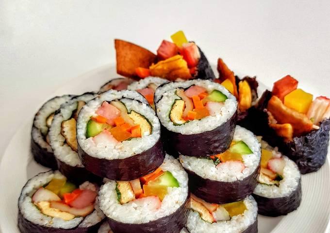 Kimbap (Korean seaweed rice rolls)