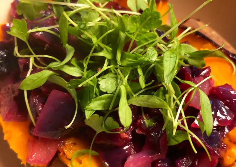 Sweet potato and red cabbage - vegan option