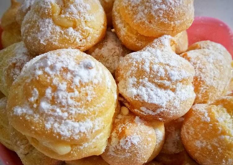 Kue Sus Mini/choux pastry fla susu