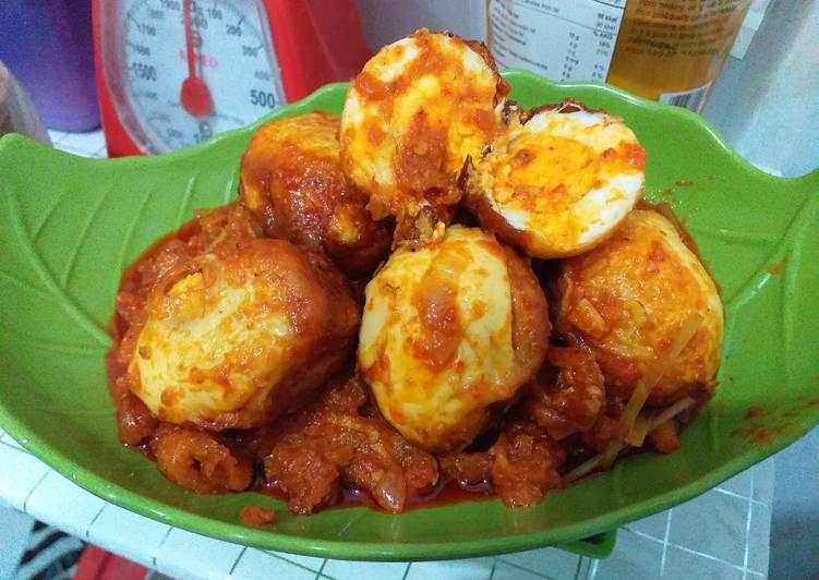 Telur Balado ala Indonesia