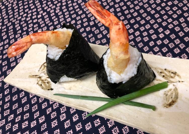 Japanese Shrimp Tempura Onigiri (Rice Ball)②