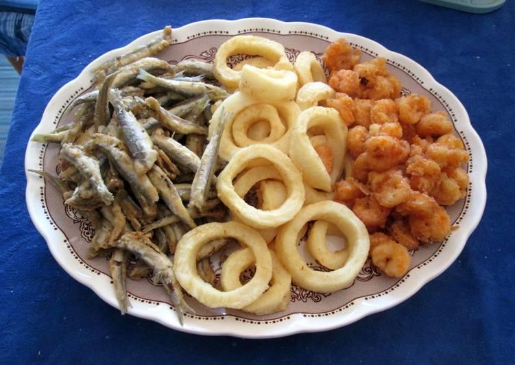 Tris di mare fritto