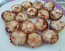 Mini Tartaletas rellenas de jamón