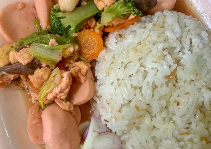 Capcay kuah & nasi goreng made by love 💜