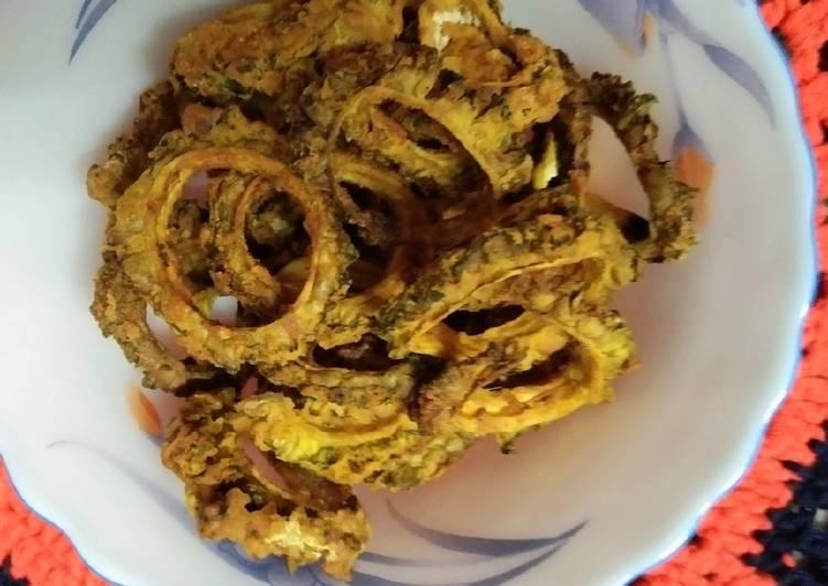 Karela Chips in Air Fryer