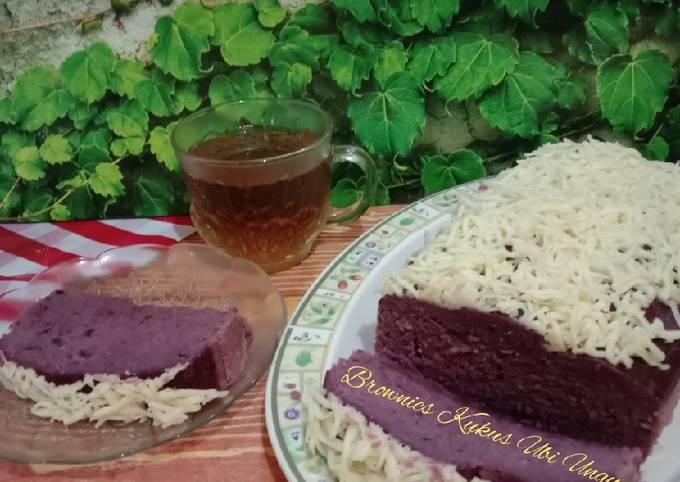 Brownies kukus ubi ungu