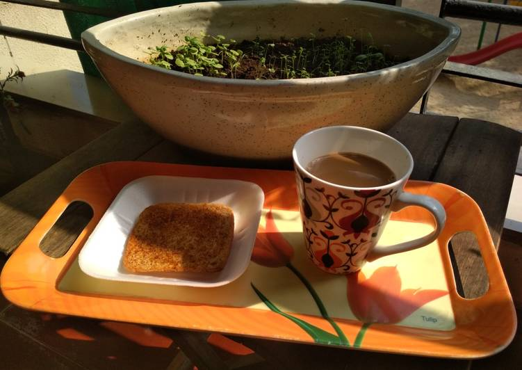 Steps to Prepare Any-night-of-the-week Masala Toast with Tea