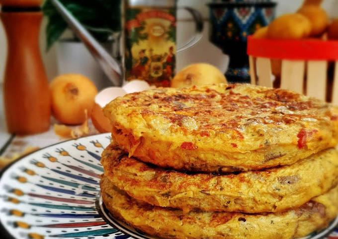 Tortilla pomme de terre et aubergines