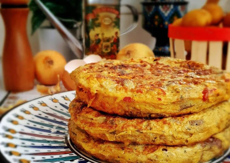 Le moyen le plus simple de Cuire Savoureux Tortilla pomme de terre et aubergines