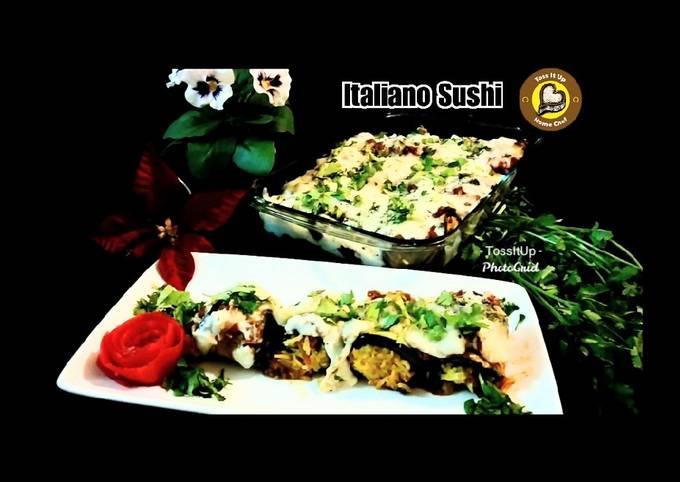 Italiano Sushi Or Aubergine Rolls