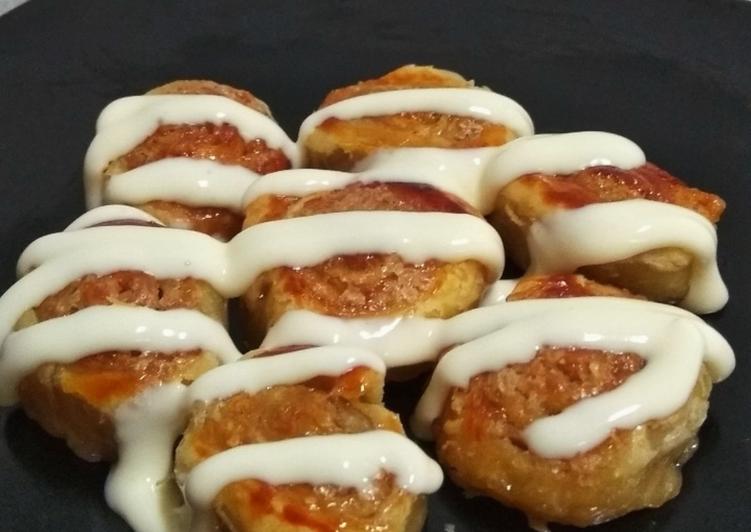 Puff Pastry Cinnamon Roll Bites