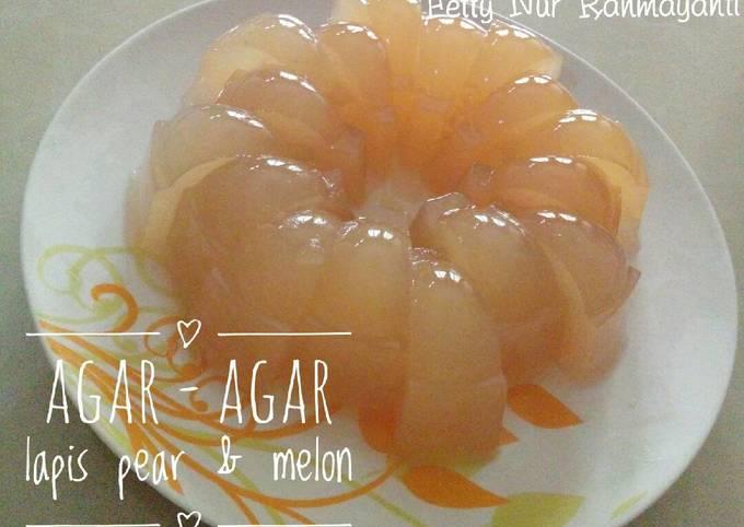 Agar - agar lapis pear & melon