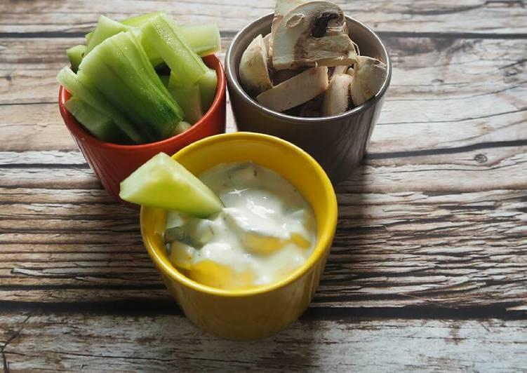 Tsatsiki concombre et champignon