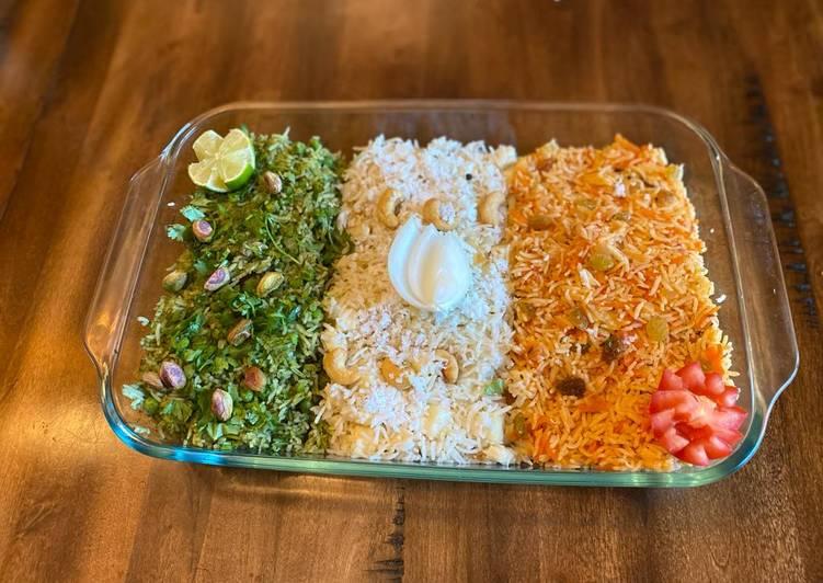 Easiest Way to Prepare Favorite Tiranga Pulao (Tri-color rice)