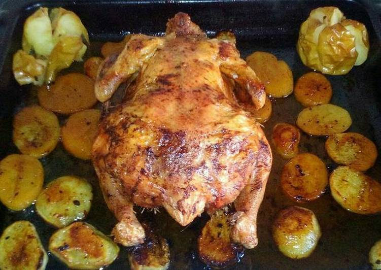 Receta rápida y fácil: Delicioso Pollo asado 🐔