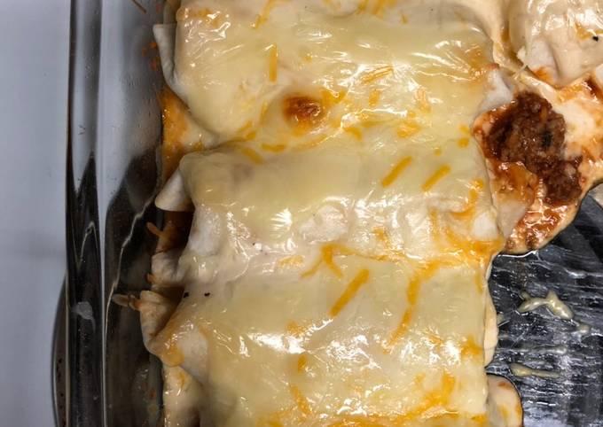 Easy made enchiladas