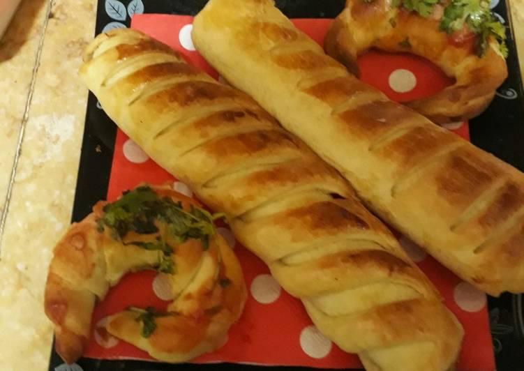 Chicken bread roll, mini croissants live show recipie 23rd may