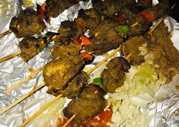Nigerian beef kebab