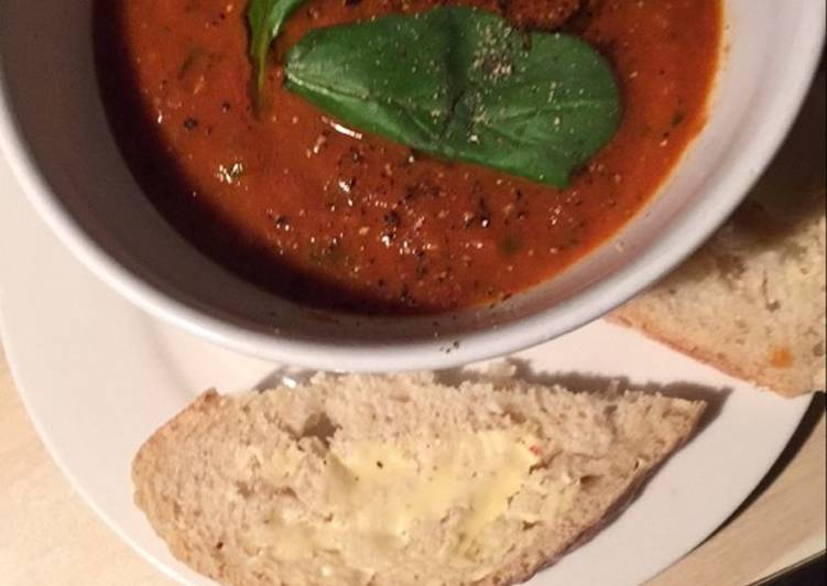 Steps to Make Favorite Roasted tomato and fennel soup