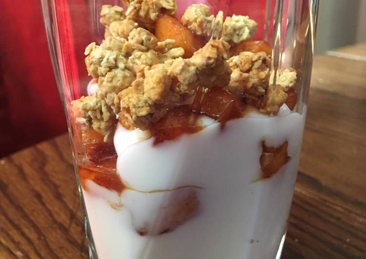 Recipe: Delicious Apple pie yogurt parfait