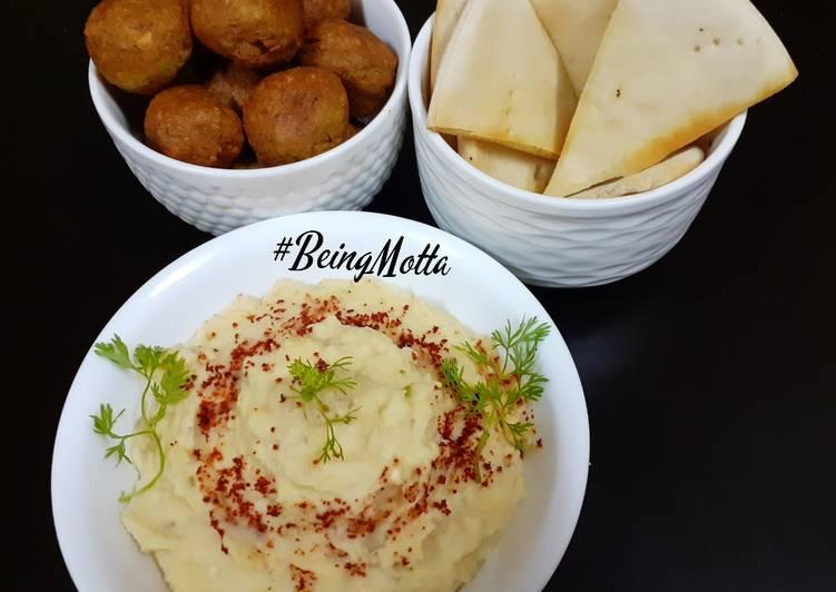 Steps to Prepare Favorite Falafel Tikki-Hummus