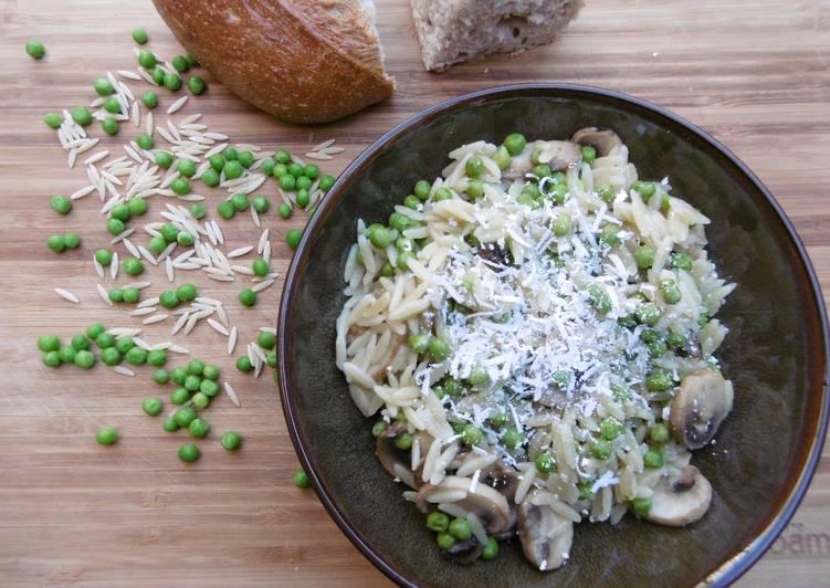 Recipe: Perfect Mushroom, Orzo, and Pea Salad
