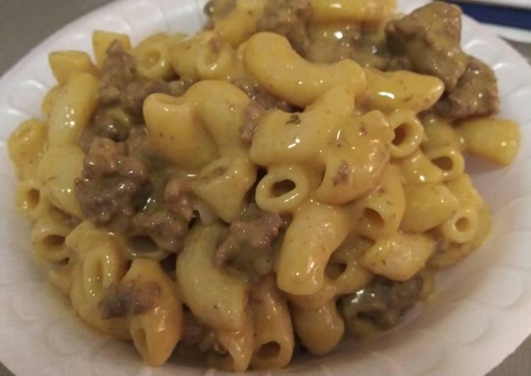 Hamburger mac and cheese