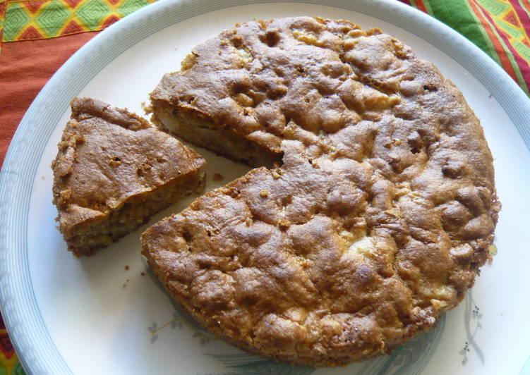 Pear Walnut Spice Cake