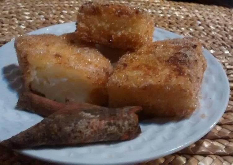Leche frita con maizena