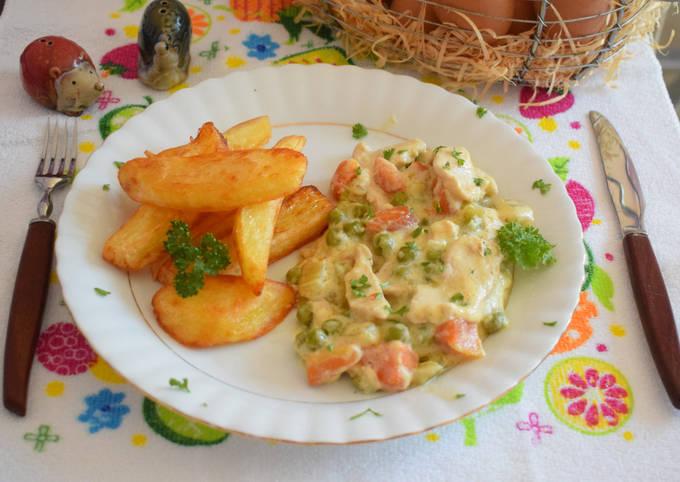 Healthy vegetable chicken breasts