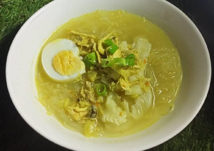 Soto Ayam Kuah Bening Bumbu Kuning