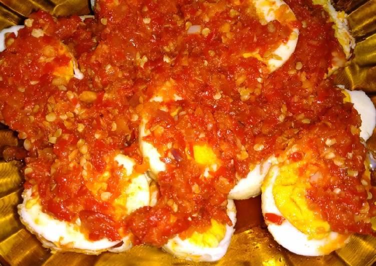 Telur balado belah 2