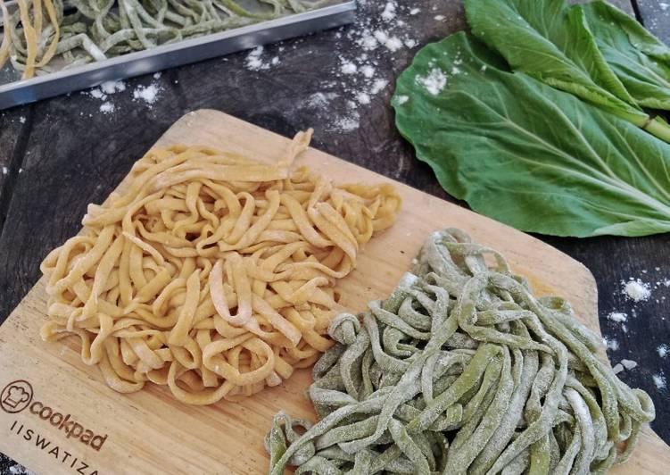 Mie Sawi Hijau - Wortel Homemade