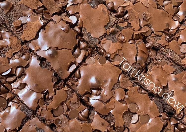 Fudgy brownie / brownies panggang enak