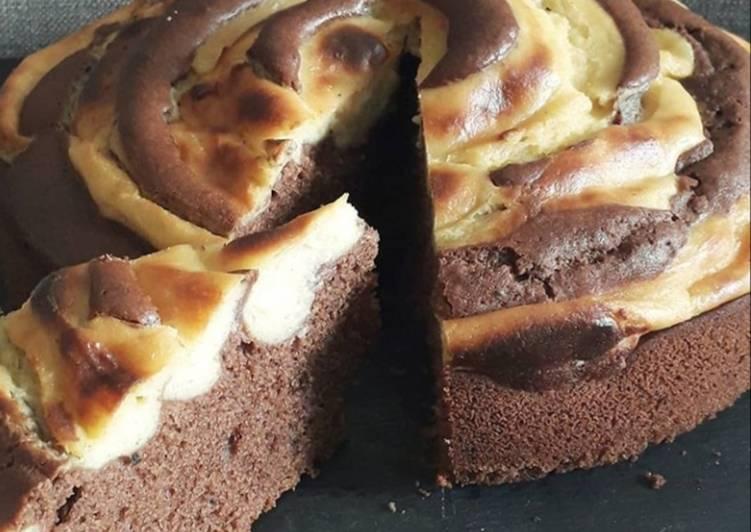 Gâteau spirale au chocolat et crème Pâtissière