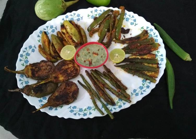 Easiest Way to Prepare Ultimate Tawa Fry Green Vegetables