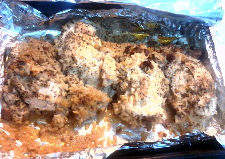 Dirty rice stuffed chicken