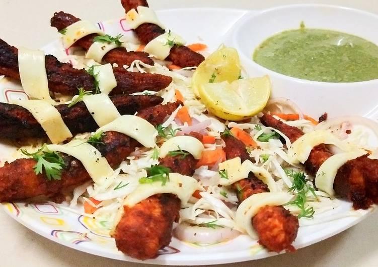 #Restaurant style cheese tandoori baby corn