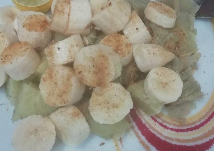 Recipe of Perfect Sweet Potato and Banana Chaat