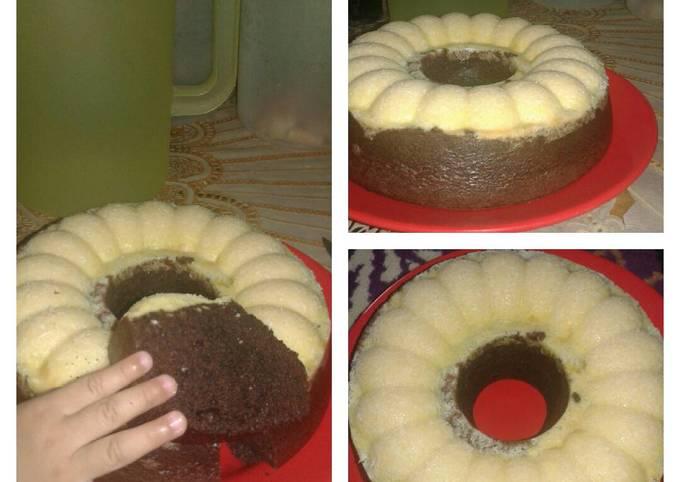 Brownies kukus toping keju