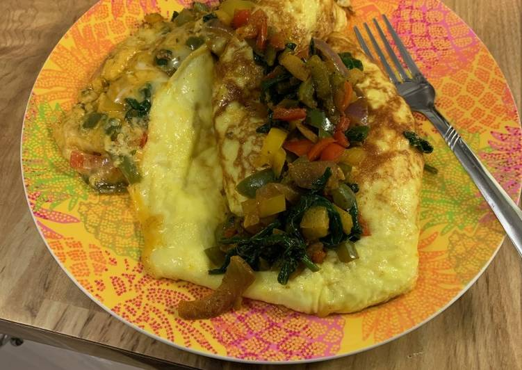 Turn to Food to Boost Your Mood Veggie Omelette