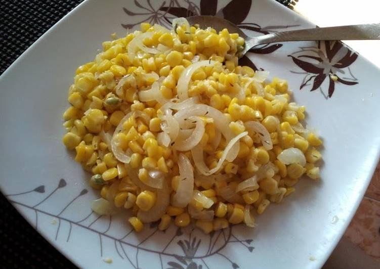 sauteed corn and white onion